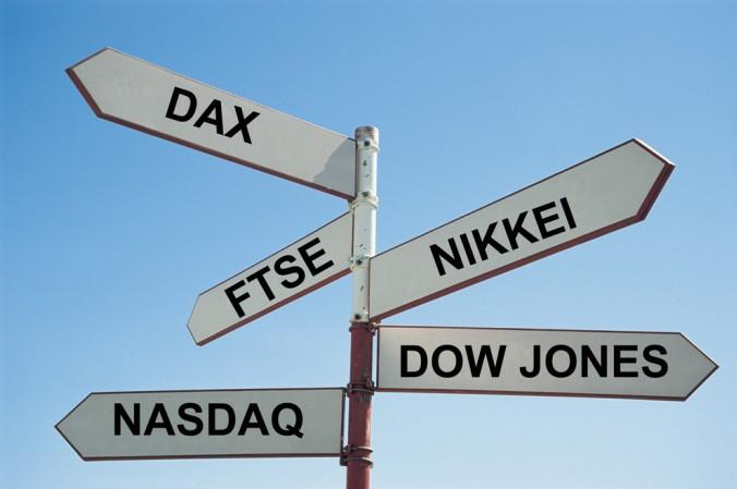 Ausschlaggebend für das Börsenverhalten sind die sogenannten Leitindexe, wie bespielsweise der Dow Jones. (#1)