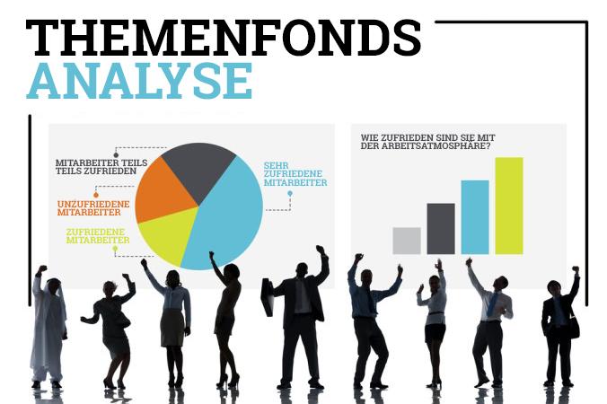 Im Zuge der Themenfonds Analyse, basierend auf der Mitarbeiter Zufriedenheit, werden die Mitarbeiter eines Unternehmens in detailierten Befragungen gezielt nach bestimmten Themengebieten gefragt. Das Hauptaugenmerk liegt dabei auf der Zufriedenheit der Mitarbeiter des Unternehmens, welches in den Fond aufgenommen werden soll. (#2)
